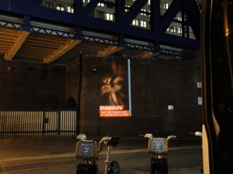 Guerilla projections advertising