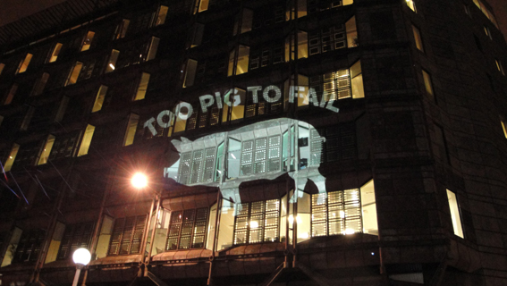 Guerilla projections